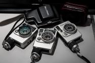 Canon  Dial 35, Canon Dial 35-2 och Bell & Howell 35-2. Halvformatskameror, half frame cameras