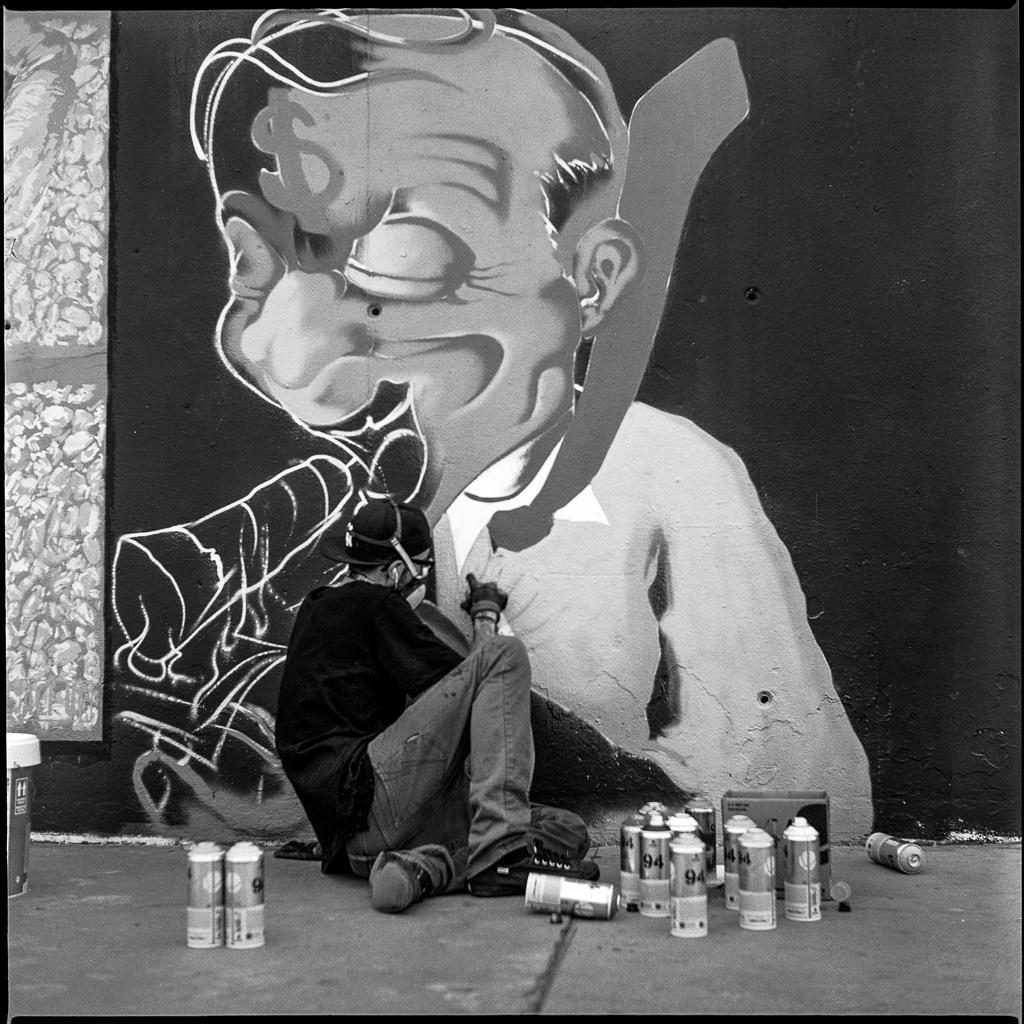 Barcelona street art festval, Yashica Mat EM TmaX 100@100