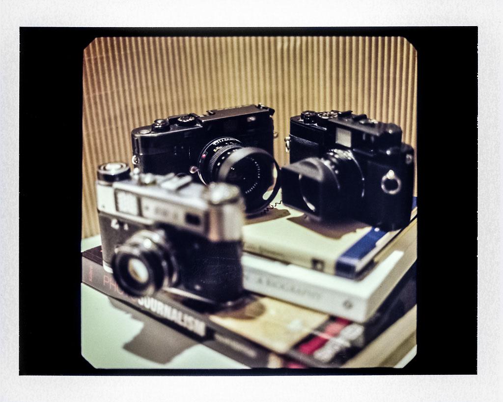 Leica M6, Voigtlander R2m, FED 5 on Fuji FP100C expired with Mamiya RZ67